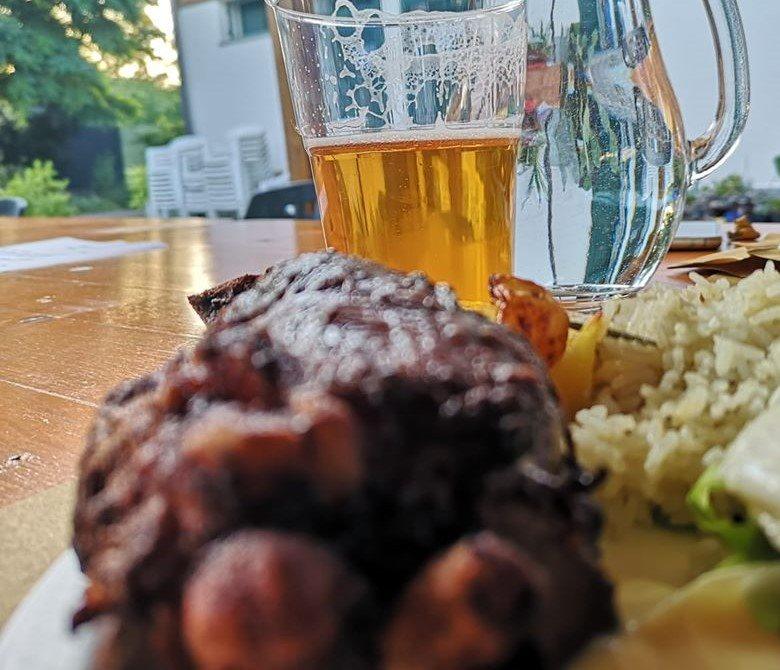 abbiamo abbinato una bock ad un piatto di carne, come ci hanno insegnato i ragazzi di Funbeercooking
