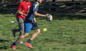 Un allenamento di Quidditch babbano