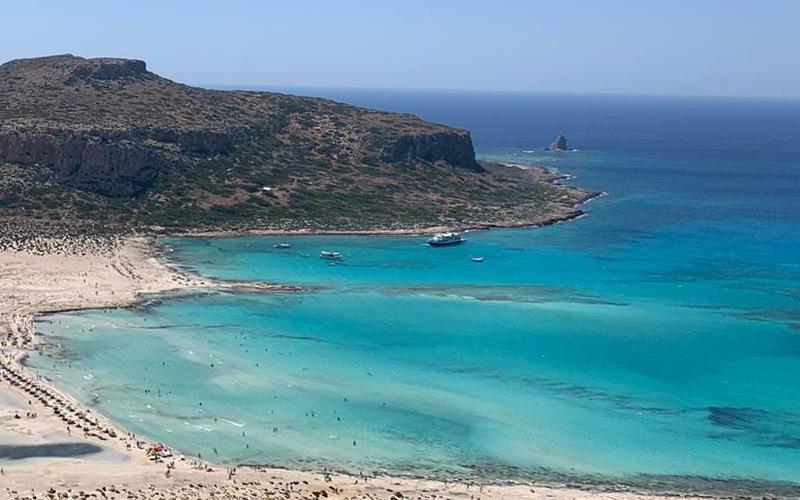 Una spiaggia dell'isola di Creta