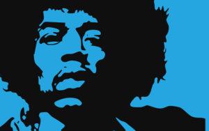 Un ritratto di Jimi Hendrix