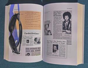 L'interno del libro The story of life - Gli ultimi giorni di Jimi Hendrix, in cui si parla degli ultimi momenti di vita del grande chitarrista