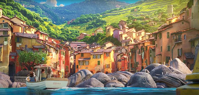 Un altro fotogramma dal trailer di Luca della Pixar. Impressionante la somiglianza con le vere Cinque terre