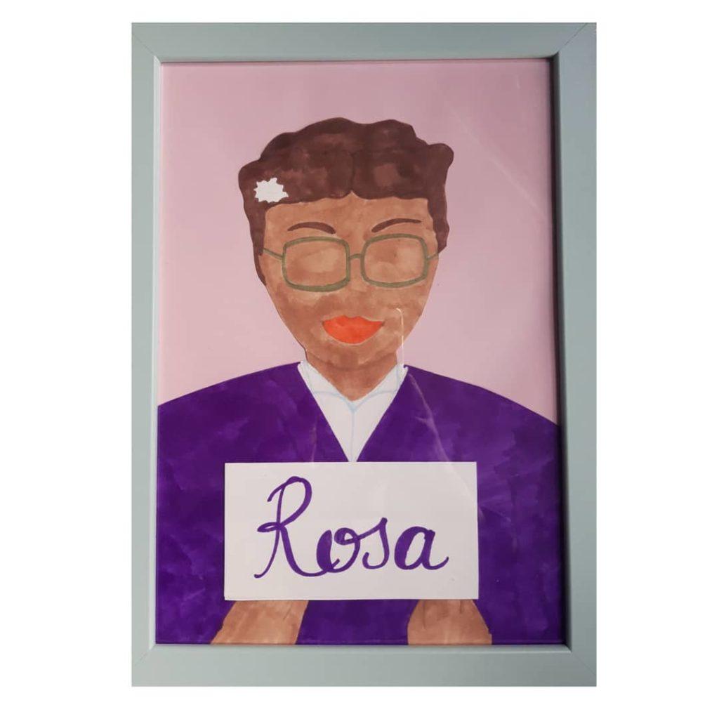 Disegno di Rosa Parks, attivista per i diritti civili
