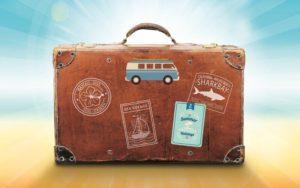 Una valigia da viaggi. Tornerà utile con il green pass